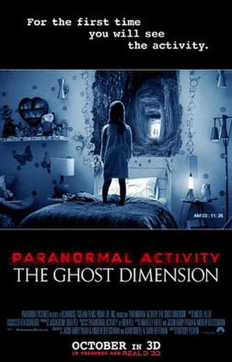 Paranormal Activity: The Ghost Dimension - Theatrical release poster