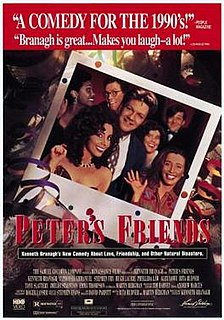 <i>Peters Friends</i> 1992 film by Kenneth Branagh