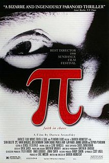 <i>Pi</i> (film) 1998 surrealist psychological thriller film by Darren Aronofsky