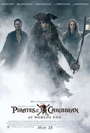 Pirates of the Caribbean: At World's End - Theatrical release poster