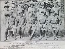 Regimental Staff, 154th Infantry Regiment, Arkansas National Guard, 1918.jpg