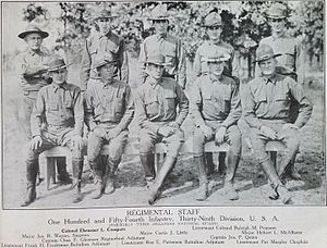 154th Infantry Regiment (United States) - Image: Regimental Staff, 154th Infantry Regiment, Arkansas National Guard, 1918