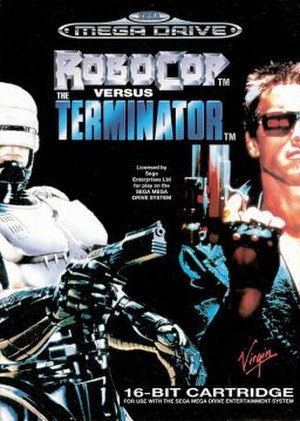 RoboCop Versus The Terminator - European Mega Drive cover