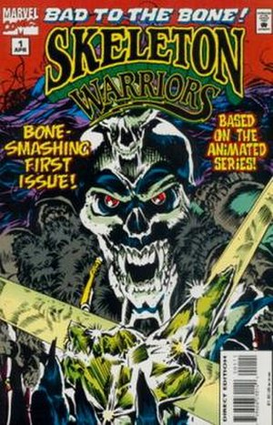 Skeleton Warriors - Cover of the 1st Marvel spin-off comic