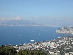 Vesuvius overlooking Sorrento and the Bay of Naples.
