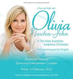 A Summer Night with Olivia Newton-John - Promotional poster for tour