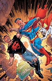 Superboy-Prime vs. Kon-El. Cover to Infinite Crisis #4 (2006). Art by Jim Lee.