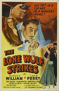 <i>The Lone Wolf Strikes</i> 1940 film directed by Sidney Salkow