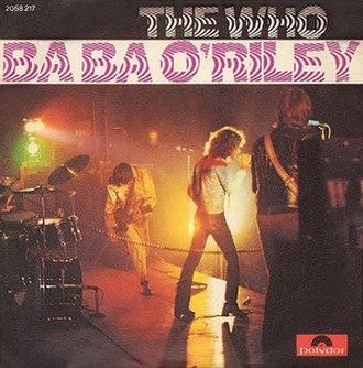 Baba O'Riley - Image: The Who Baba cover