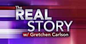The Real Story (TV program) - former title card for The Real Story before Carlson's departure.