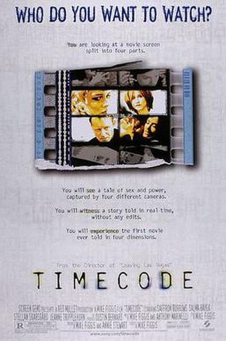 Timecode (2000 film) - Theatrical release poster