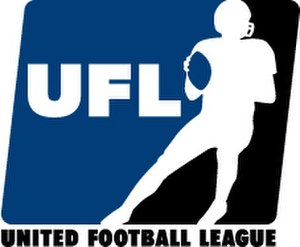 United Football League (2009–12) - Original UFL logo (2007–2008)