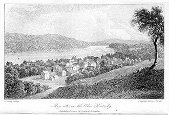 Maysville, Kentucky - View of Maysville, 1821