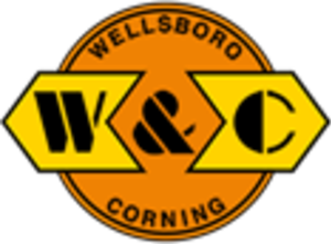 Wellsboro and Corning Railroad - Image: Wellsboro and Corning Railroad logo