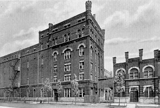 The White Eagle Brewing Company building in Bridgeport, designed by John S. Flizikowski, once stood at the corner of W. 37th Street and Racine.