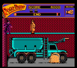 Who Framed Roger Rabbit (1989 video game) - Eddie Valiant vs. Judge Doom.