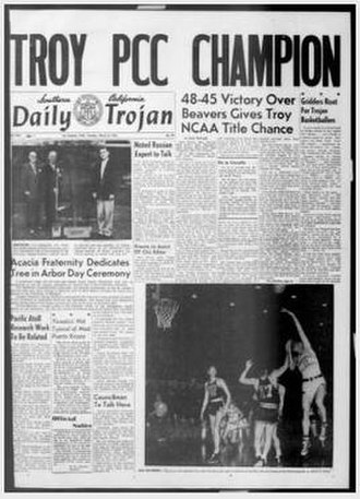 USC Trojans men's basketball - The Daily Trojan following USC's PCC championship.