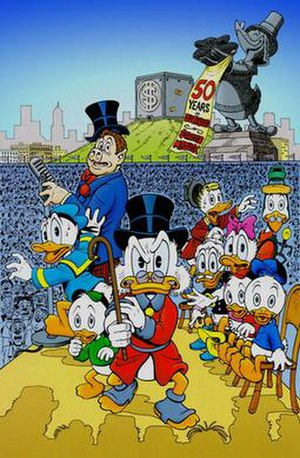 A Little Something Special - Don Rosa's cover artwork for the story.