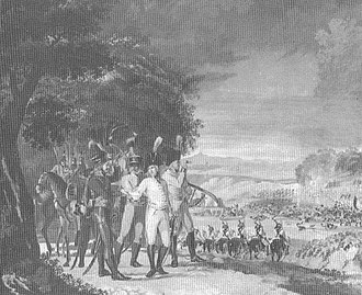 Battle of Ostrach - Archduke Charles and his staff at the Battle of Ostrach