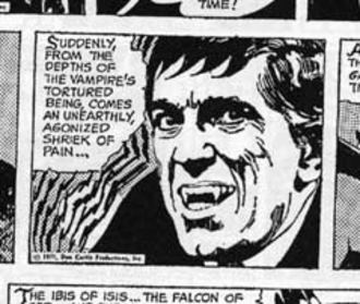 Dark Shadows - Detail from Dark Shadows newspaper comic strip. Art by Ken Bald