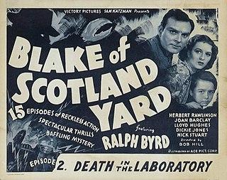 <i>Blake of Scotland Yard</i> (1937 film) 1937 American film directed by Robert F. Hill