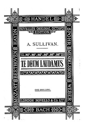 Te Deum Laudamus (Sullivan) - Cover of the vocal score