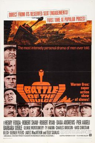 Battle of the Bulge (film) - Original movie poster