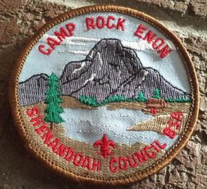 Camp Rock Enon - Camp logo on a patch