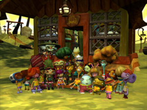 Psychonauts - Group photo of Whispering Rock camp alumni and Ford Cruller