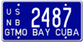 Cuba license plate 1961 Guantanamo graphic.png