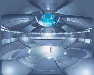 X2 (film) - Concept art of the Danger Room before the setpiece was stored due to budgetary concerns