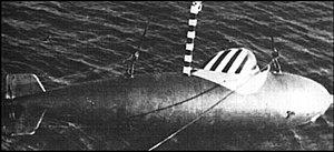 Teardrop hull - German Delphin midget submarine, c. 1944/45
