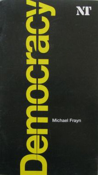 Democracy (play) - Souvenir program from the Royal National Theatre's production in London