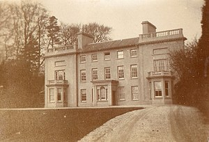 Dolaucothi Estate -  Dolaucothi Mansion showing the post 1871 architectural changes.