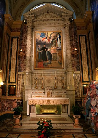 Dominic Savio - The altar of St. Dominic Savio in Basilica of Our Lady Help of Christians, Turin, under which holds the relic of the saint