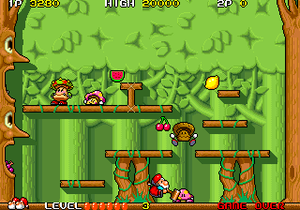 Don Doko Don - Arcade screenshot of Don Doko Don