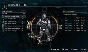 Dust 514 - Dust 514 allowed players to customize infantry and vehicles with a modular fitting system similar to the ship fitting system in Eve Online.