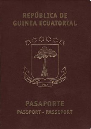Equatorial Guinean passport - Equatorial Guinean passport front cover