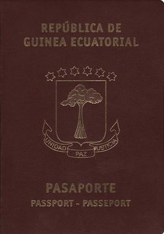 Equatorial Guinean passport - Equatorial Guinean passport front cover