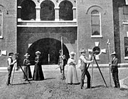 Students study surveying and engineering in 1900
