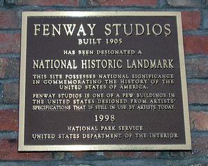Fenway Studios - Image: Fenway Studios Marker 29Jan 2008