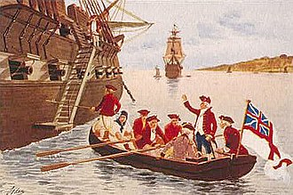 Virginia in the American Revolution - Lord Dunmore fleeing to the HMS ''Fowey''