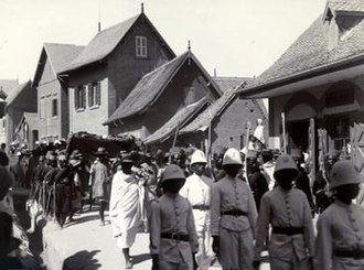 Rainilaiarivony - Funeral procession of Rainilaiarivony (1900)