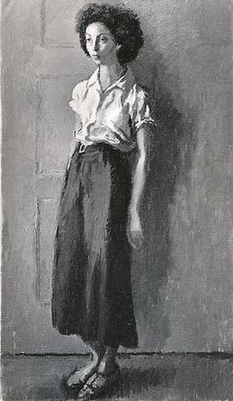 Gitel Steed - Raphael Soyer (1932) Girl in White Blouse, oil on canvas, a portrait of Gitel Steed at eighteen held in the collection of The Metropolitan Museum, New York.
