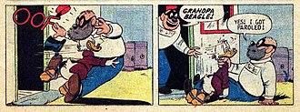 "Beagle Boys - Grandpa Beagle from ""The Money Well"" (1958)."
