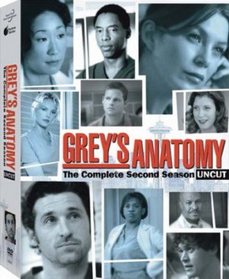 Grey's Anatomy (season 2) - DVD cover art for the second season of Grey's Anatomy