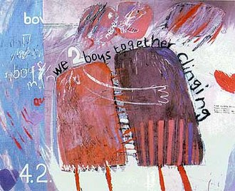 David Hockney - We Two Boys Together Clinging (1961)