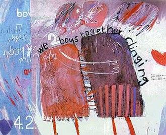 David Hockney - We Two Boys Together Clinging (1961)