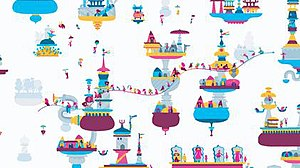 Hohokum - Screenshot of gameplay in the city world