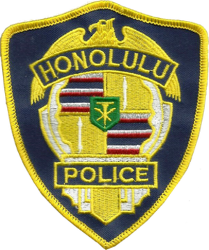 Honolulu Police Department - Image: Honolulu police dept. patch